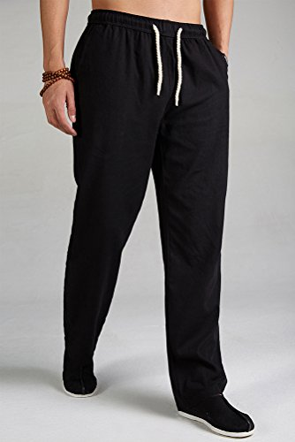 MatchLife Homme Drawstring Straight Pantalon Noir