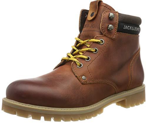 JACK & JONES Jfwstatton Leather, Botas Clasicas para Hombre, Marrón Rust Rust, 41 EU