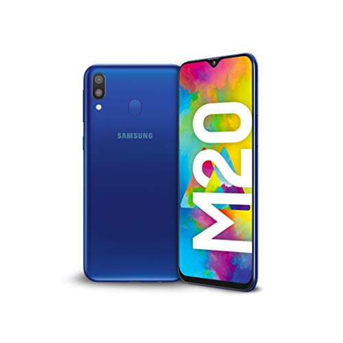Samsung Galaxy M20 Display 6.3', 64 GB Espandibili fino a 512GB, RAM 4 GB, Batteria 5000 mAh, 4G, Dual SIM Smartphone, Android 8.1.0 Oreo [Versione Italiana], Blu (Blue)
