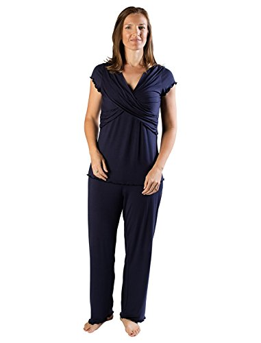 kindred bravely the davy ultra soft maternity & nursing pyjamas sleepwear set - 419ZuRLmrnL - Kindred Bravely The Davy Ultra Soft Maternity & Nursing Pyjamas Sleepwear Set