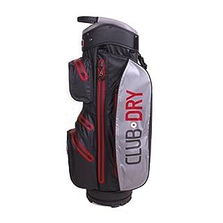 PINCUP Golfbag 14 rot- Wasserdichte Golftasche drybag für Herren Damen in Red- Trolley-Bag Wasserfeste Tasche Clubdry Waterproof Golfzubehör Golfausrüstung Cartbag Carrybag Golf-Schlägertasche