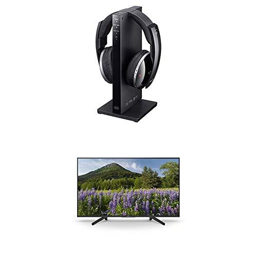 Sony Funkkopfhörer in 7.1 Digitalqualität, schwarz + 164 cm (65 Zoll) Fernseher (4K HDR, Ultra HD)