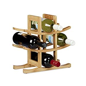 Relaxdays 10020245 cantinetta per vino 9 bottiglie legno for Cantinetta vino amazon