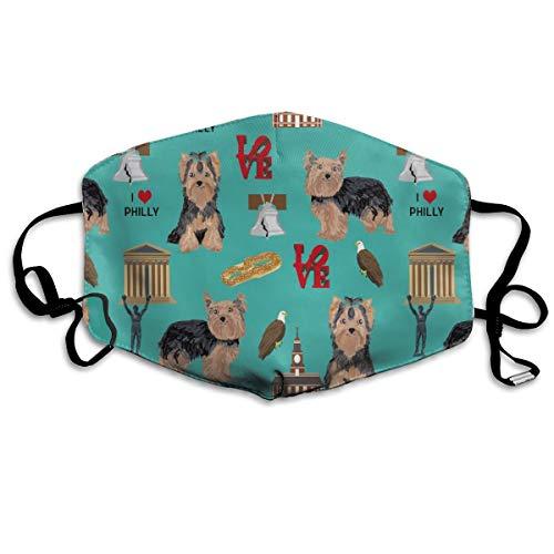 Kostüm Haar Tiger - Yorkie Philly Dog Breed Philadelphia Yorkshire Terrier Teal Anti Dust Mask Washable Wiederverwendbar Mouth Masks
