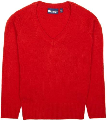 Blue Max Banner - Pull - Col V - Garçon Rouge (Red)