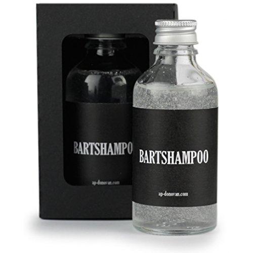 A.P. Donovan - Premium Bart-Shampoo in einer Glas-Flasche (50ml) - Seife, Reiniger, Haarspülung - Beard wash - 100% Bio-Öl - Bartpflege (Ap-reiniger)