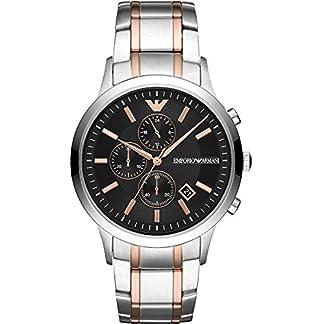 Emporio Armani Reloj Cronógrafo para Hombre de Cuarzo con Correa en Acero Inoxidable AR11165