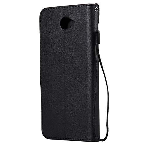 Lomogo Huawei Y7   Y7 Prime Case  Leather Wallet Case with Kickstand Card Holder Shockproof Flip Case Cover for Huawei Y7   Y7 Prime - LOKTU23158 Black