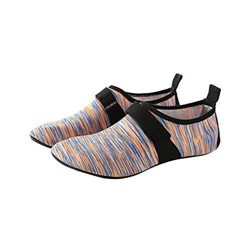 Aqua Socken Wasserschuhe, Morbuy Strandschuhe Schnell Trocknend rutschfeste Schlüpfen Aqua Surfschuhe Herren Damen Barfuß Schuhe für Yoga Wassersport Badeschuhe (38-39 EU,Rosa)