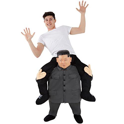 Unbekannt Morph Herren Kostüm Piggyback Adults, Leader Kim Jong Un, Einheitsgröße