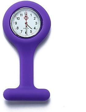 FACILLA® Schwesternuhr Krankenschwesteruhr Quarz Silikon Uhr Modisch Brandneu Violett