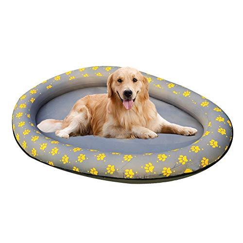 Lufblasbarer Wasserhängematte Hundepool Float Aufblasbare Ride-ons Pet Wasser Toy Pool Float Swimming Pool Außenseite Ist Mit Nylon-Oxford-Stoff Bedeckt Hundeabdrücke Oval Form Wasserhängematte -