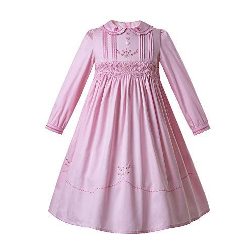 Ju petitpop Girls Smocked Tee-Länge Kleid entworfen Girly Pink Colorm 6 Jahre -