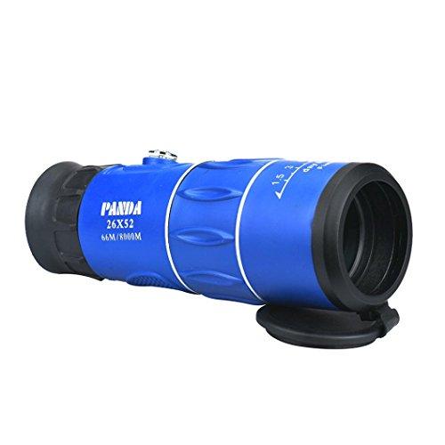 Sannysis Panda 26x52 66M/8000M HD Claro Zoom óptico Telescopio monocular Caza Cámping (Azul)