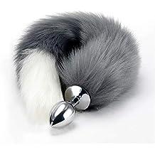 RianGor Juguetes de acero inoxidable Faux Fox Tail