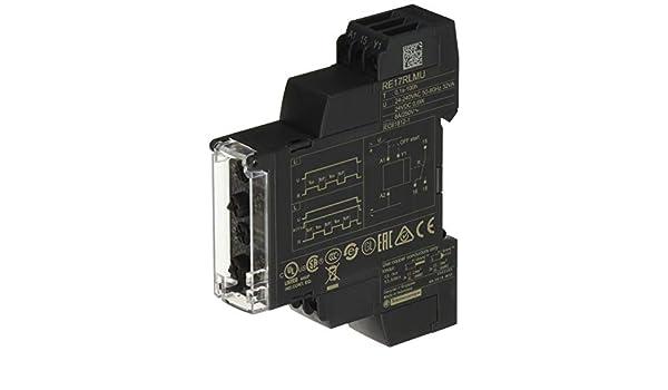 8/au courant 24 17,5/mm de largeur 240/V /100/h Schneider Electric Re17rlmu asym/étrique clignotant Relais minuteur Gamme 1/S/