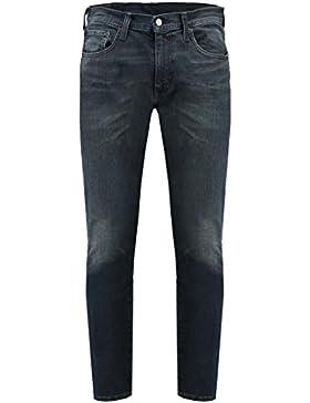 Levi's Uomo Jeans conici di 512 Steinway Slim Fit, Blu