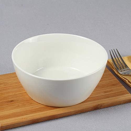 SMC Ciotola Ciotola per Insalata Dritta Ciotola per zuppa per di Ramen Ciotola per zuppa Scodella istantanea Ciotola per l'insalata Ciotola Americana per ceramiche Creative Bianco per Uso Domestico 6.5 Pollici 20af69
