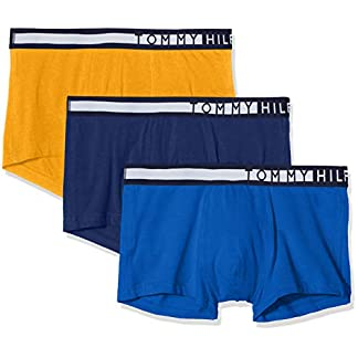 Tommy Hilfiger 3p Lr Trunk, Bóxer Shorts para Hombre, Amarillo (Yellow 0W8), Medium (Talla del fabricante: MD), (Pack de 3)
