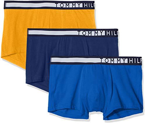 Tommy Hilfiger 3p Lr Trunk, Bóxer Shorts para Hombre, Amarillo (Yellow 0W8), Medium (Talla del fabricante: MD), (Pack de 3)