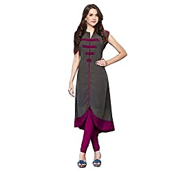 Vaankosh Fashion Women's Cotton Kurti(vf-gp_Grey_Free Size)