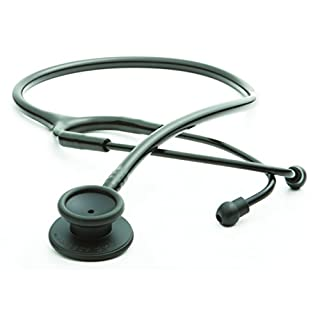 ADC Adscope Lite 609 Ultra Lightweight Clinician Stethoscope, 31 inch Length, Tactical All Black, Medical Equipment for Doctors and Nurses