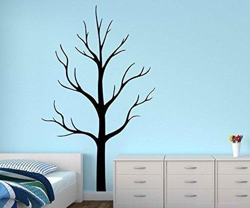 Wandtattoo XXL kahl Baum Bäume Aufkleber Äste Blätter Kinderzimmer Herbst Wald Wandsticker Wohnzimmer 1E135, Hohe:180cm;Baum Farbe:Braun Matt