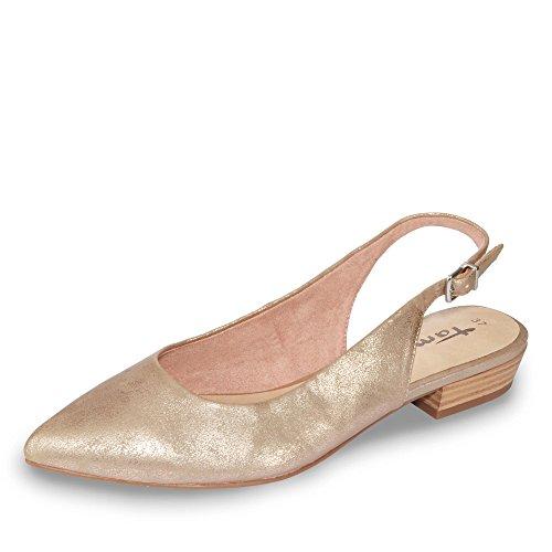 Tamaris 1-29402-28/952 Damen Sling eleganter Boden Rot (Rosègold)