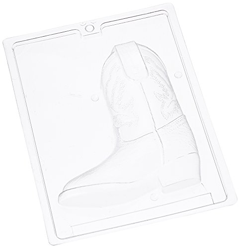 Cybrtrayd K075A 3D Cowboy Boot (Side 1 ONLY) Chocolate Candy Mold with Exclusive Cybrtrayd Copyrighted 3D Chocolate Molding Instructions by CybrTrayd (Boot Candy Mold)