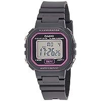 Casio Watch For Women Quartz, Digital Display and Plastic Strap LA-20WH-8AEF