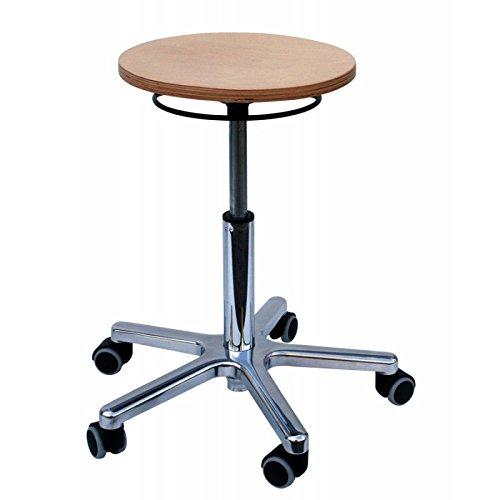 Dreh-Hocker Buche XL, Modell 3690 für schwere Personen bis 150 kg, Sitz Buche, Sitzdurchmesser 36 cm, von Lotz