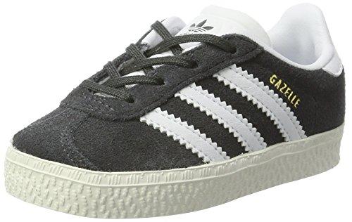 adidas Unisex-Kinder Gazelle Sneaker, Grau (DGH Solid Grey/FTWR White/Gold Metallic), 19 EU