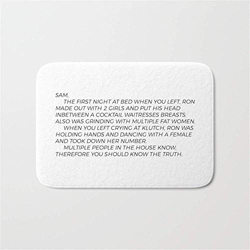 Yuerb Fußmatten Jersey Shore Letter to Sammi Door Bath Mat 23.6