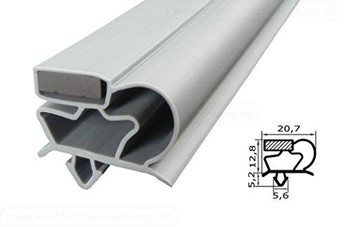 Magnetdichtung Profil groß C - 2500mm inkl. Magnetband - Farbe: Grau (Kühlschrankdichtung) (Kühlschrank Gummi)