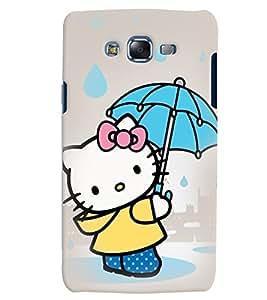 Citydreamz Hello Kitty/Cartoon/Dots/Cute Design Hard Polycarbonate Designer Back Case Cover For Samsung Galaxy J7