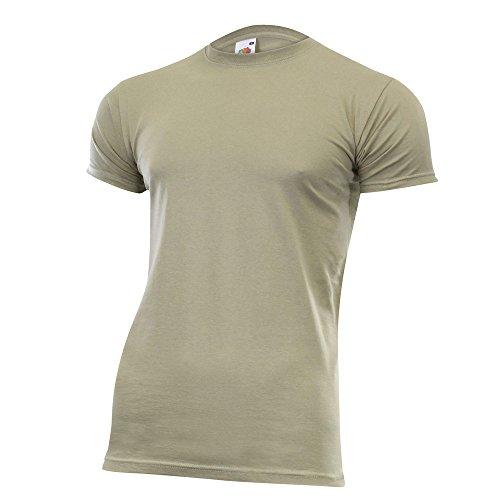 Fruit of the Loom Herren Valueweight T-Shirt Rundhals viele Farben und Größen Khaki