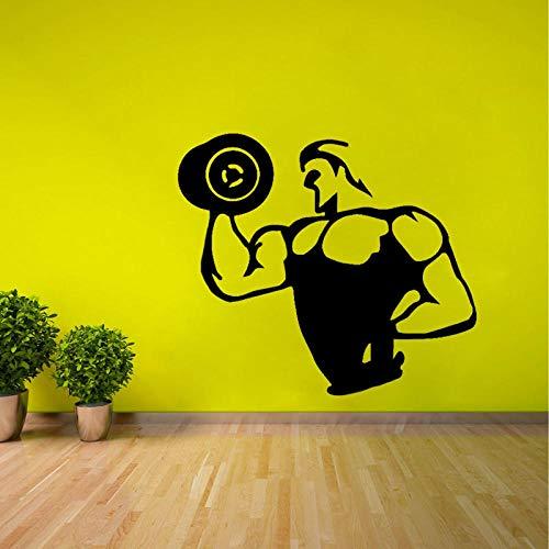 Wandaufkleber Hantel Bodybuilding Dekor Pvc Wohnzimmer Küche Und Fitnessstudio Decals 50Cm * 44.1Cm