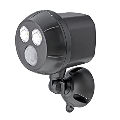 Mr Beams MB390 300-Lumen Weatherproof Wireless Battery Powered LED Ultra Bright Spotlight with Motion Sensorn
