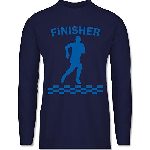 Shirtracer Laufsport - Finisher - Herren Langarmshirt Navy Blau