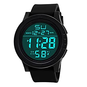 Lucky mall LED Wasserdichte Digital Quarzuhr, Mode Militär Sport Herrenuhr