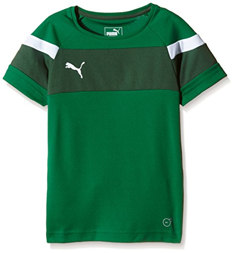 PUMA Kinder T-shirt Spirit II Training Jersey, power green-White, 140 -