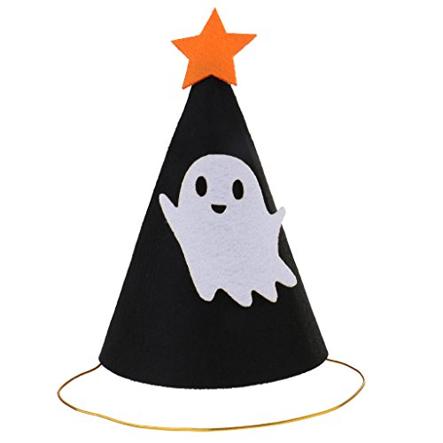 Halloween Kegel Hut Mütze Kappe Partyhüte Kostüm Zubehör für Cosplay Karneval und Kindergeburtstag, aus Filz - Ghost ()
