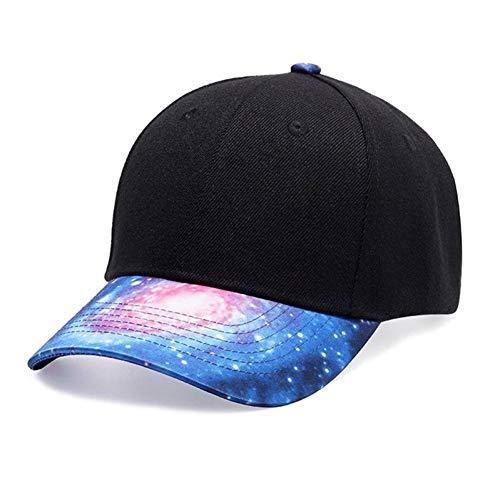 ENGXING Mode Hip Hop Baseballmütze Sternenhimmel Druck Unisex Frauen Männer Street Dance Caps Korean Style Hüte (Korean Mode Für Männer Bekleidung)