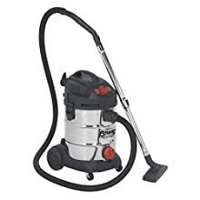 Sealey PC300SDAUTO 30ltr Wet & Dry Industrial Vacuum Cleaner 1400W with Stainless Drum & Auto Start