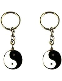 Eshoppee Feng Shui Yin Yang Keyring Key Chain Set Of 2 Pcs