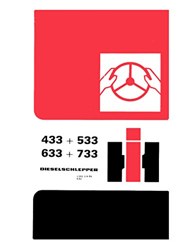 Preisvergleich Produktbild Betriebsanleitung IHC Schlepper 433 533 633 733