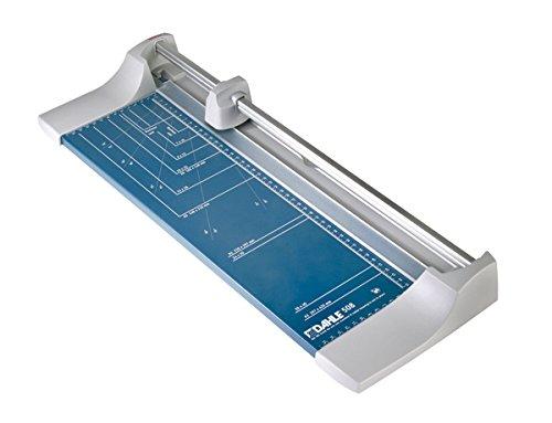 Preisvergleich Produktbild Dahle 508 Roll- und Schnitt-Schneidemaschine (Papierschneidemaschine mit einer Schnittlänge von 460 mm, bis zu DIN A3), silberblau