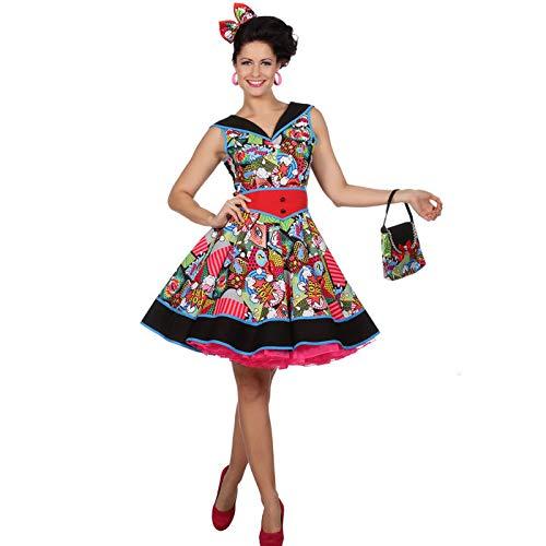 Wilbers & Wilbers Damen-Kostüm Kleid Pop-Art, Gr. 40