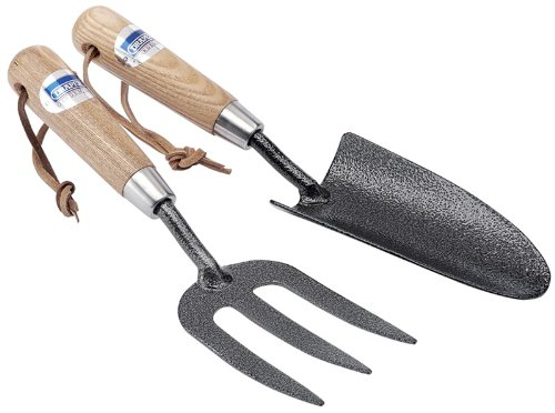 Draper 03328 2pc Carbon Steel Hand Fork And Trowel Set
