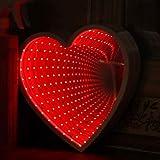 Keyi le Túnel de luz 3D Espejo Infinito luz Linda decoración de la Pared del corazón Luces para la decoración de la Boda de la Sala de Fiesta de Navidad